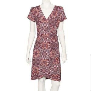 Super soft paisley midi wrap dress